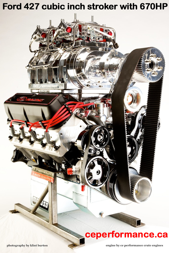 Ford 427 ci high performance crate motor with 670HP